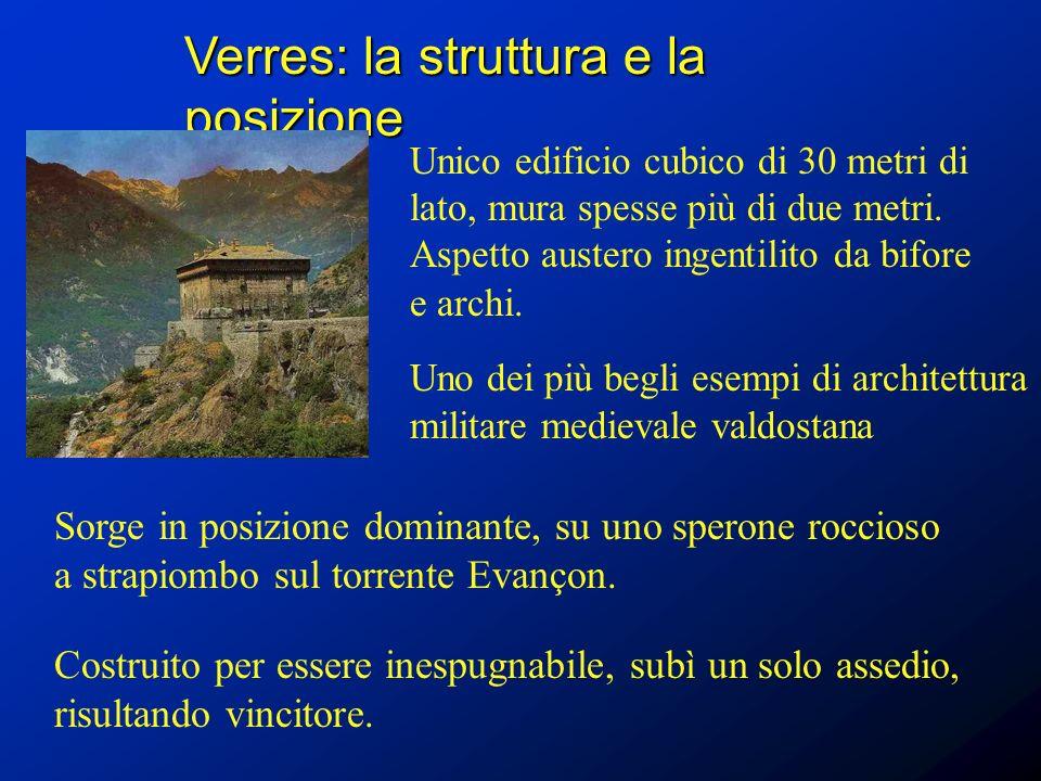 Verres: la struttura e la posizione