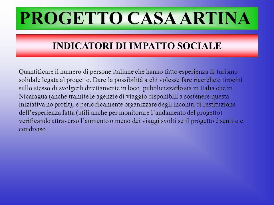 INDICATORI DI IMPATTO SOCIALE