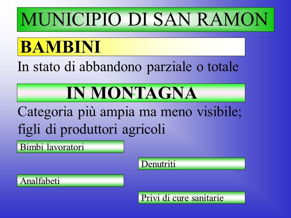 MUNICIPIO DI SAN RAMON BAMBINI IN MONTAGNA