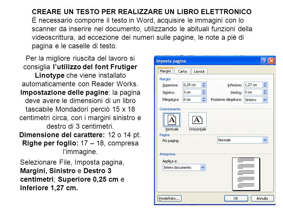 CREARE UN TESTO PER REALIZZARE UN LIBRO ELETTRONICO