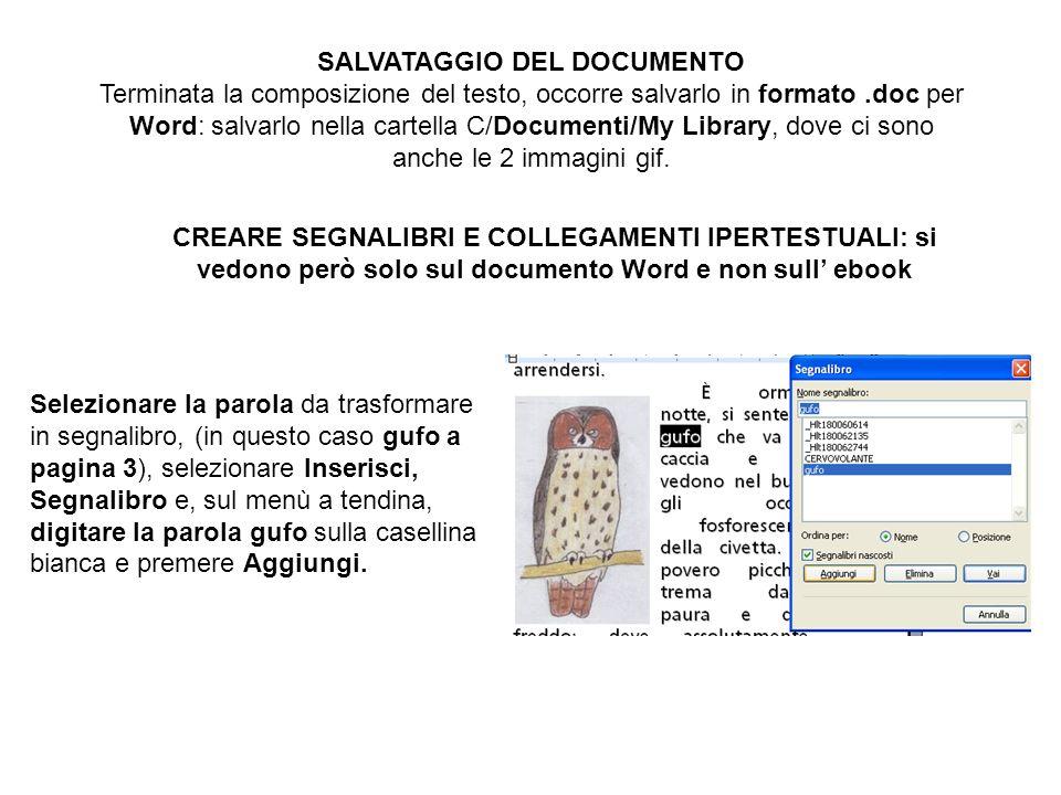 SALVATAGGIO DEL DOCUMENTO