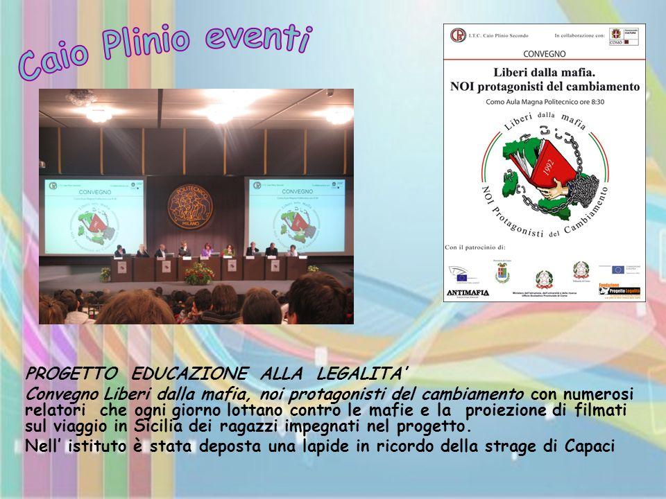 Caio Plinio eventi PROGETTO EDUCAZIONE ALLA LEGALITA'