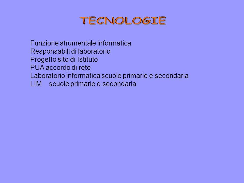 TECNOLOGIE Funzione strumentale informatica