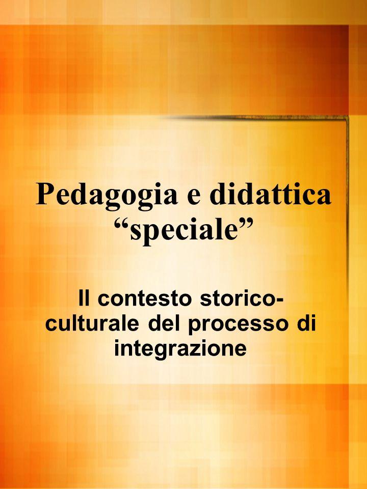 Pedagogia e didattica speciale