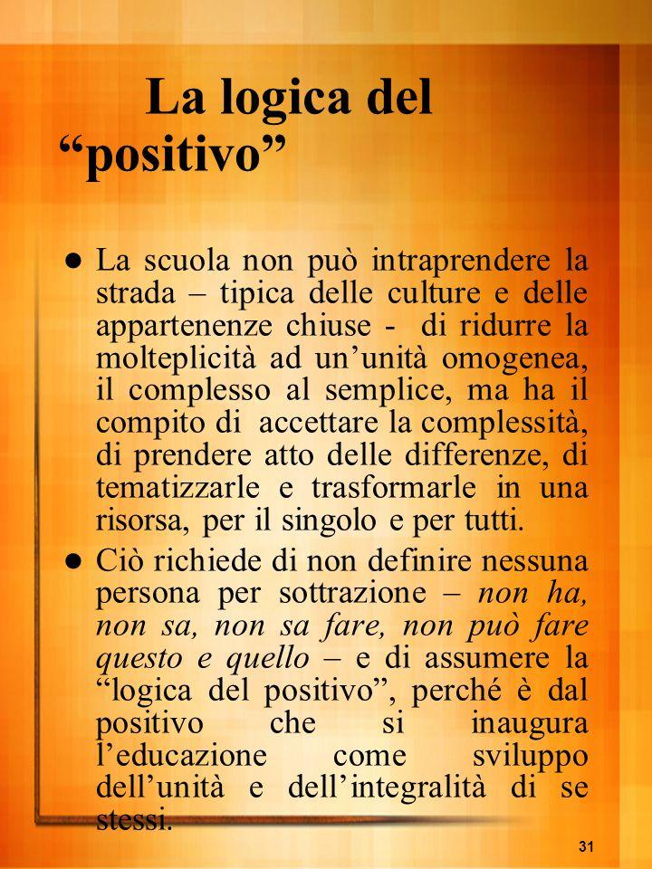 La logica del positivo
