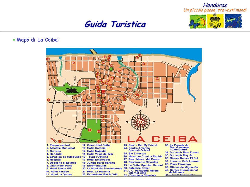 Mapa di La Ceiba: