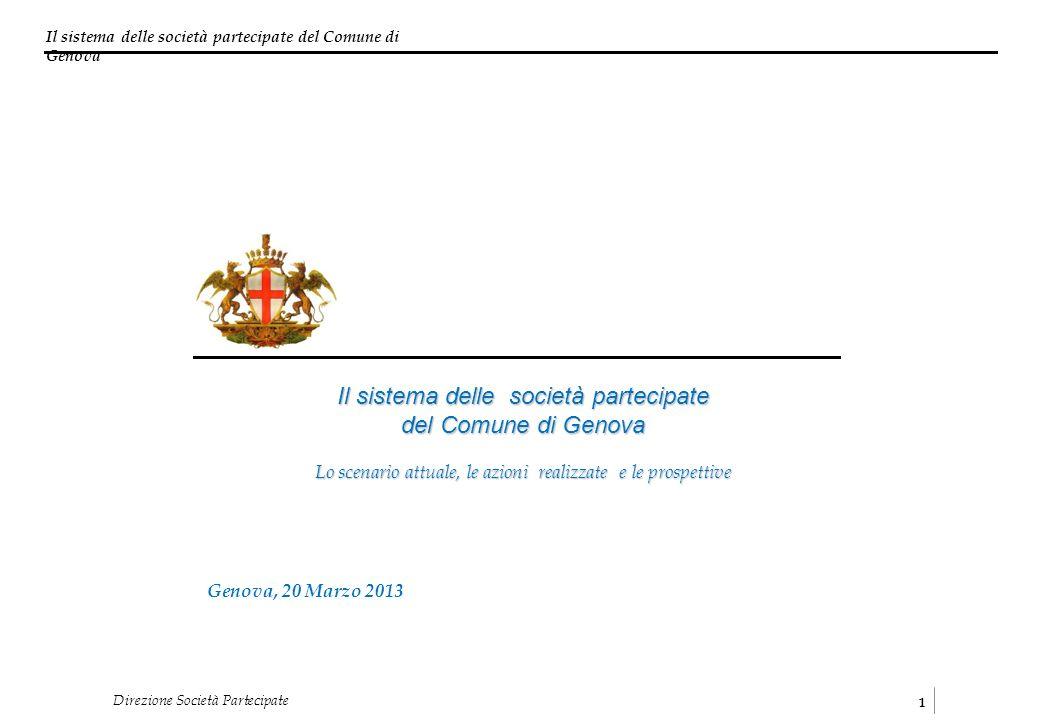 Il sistema delle società partecipate del Comune di Genova