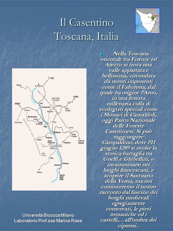 Il Casentino Toscana, Italia