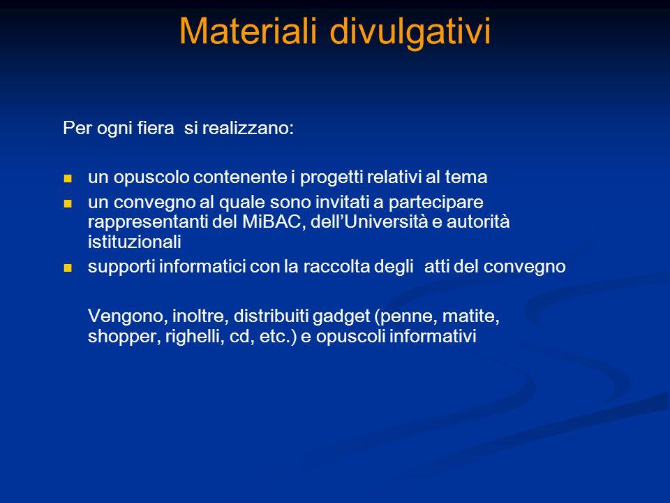 Materiali divulgativi