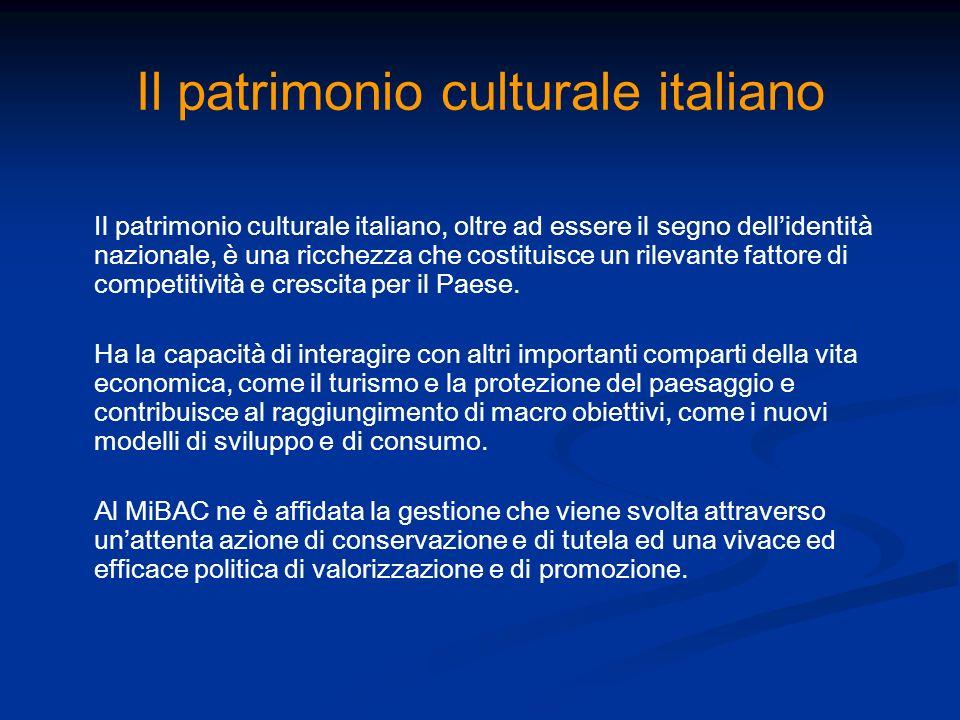 Il patrimonio culturale italiano