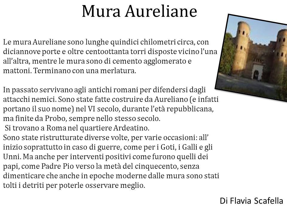 Mura Aureliane Di Flavia Scafella