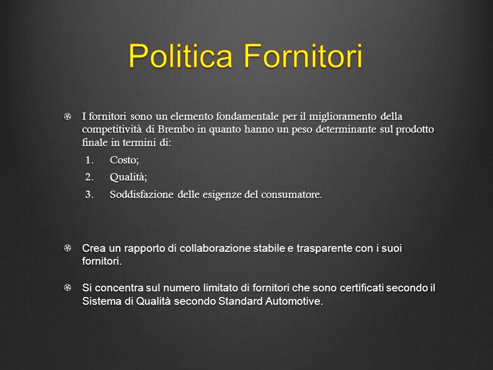 Politica Fornitori