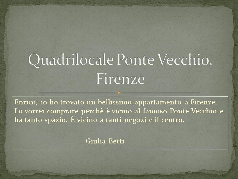 Quadrilocale Ponte Vecchio, Firenze