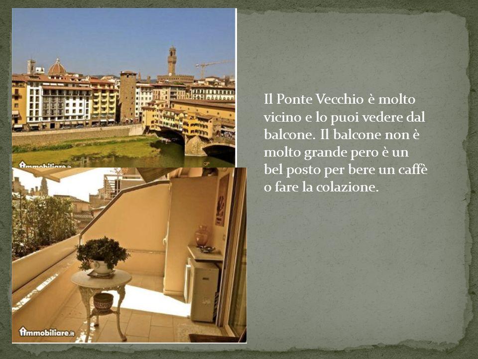 Il Ponte Vecchio è molto vicino e lo puoi vedere dal balcone