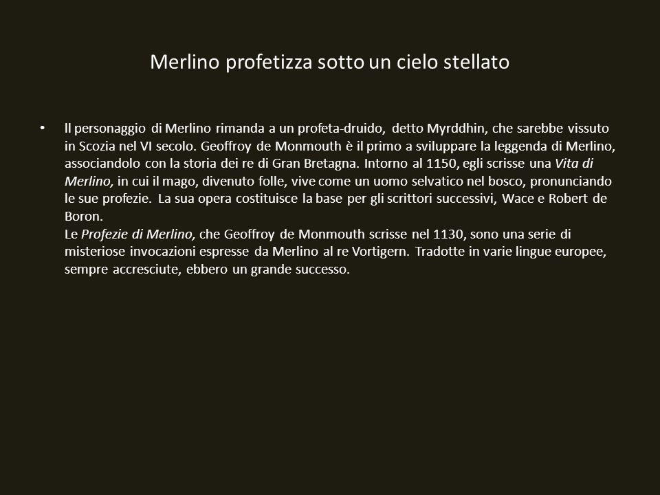 Merlino profetizza sotto un cielo stellato