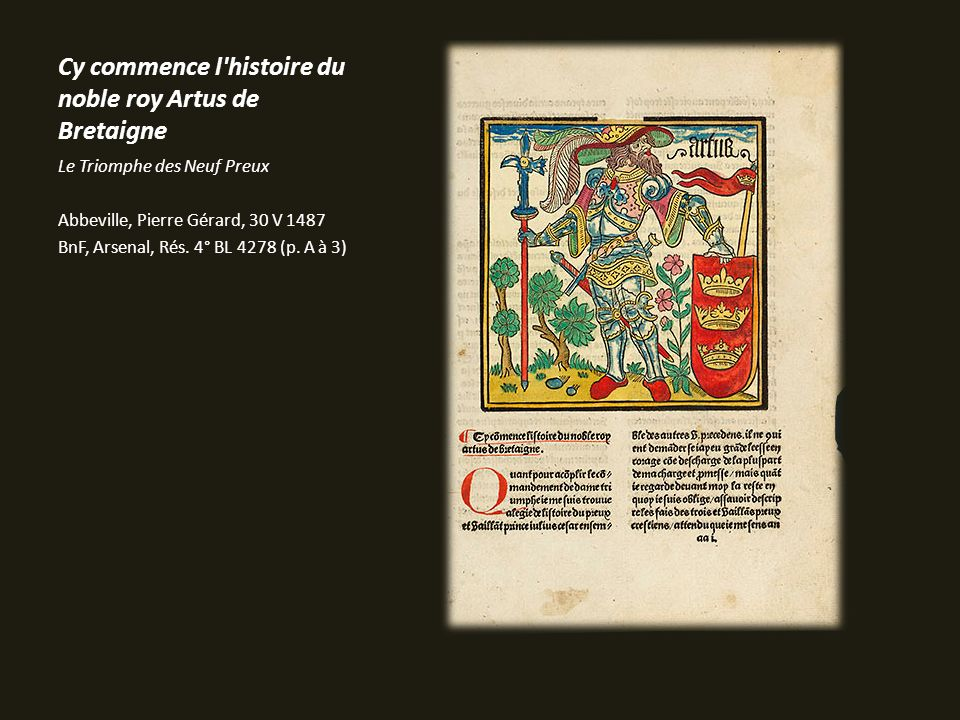 Cy commence l histoire du noble roy Artus de Bretaigne