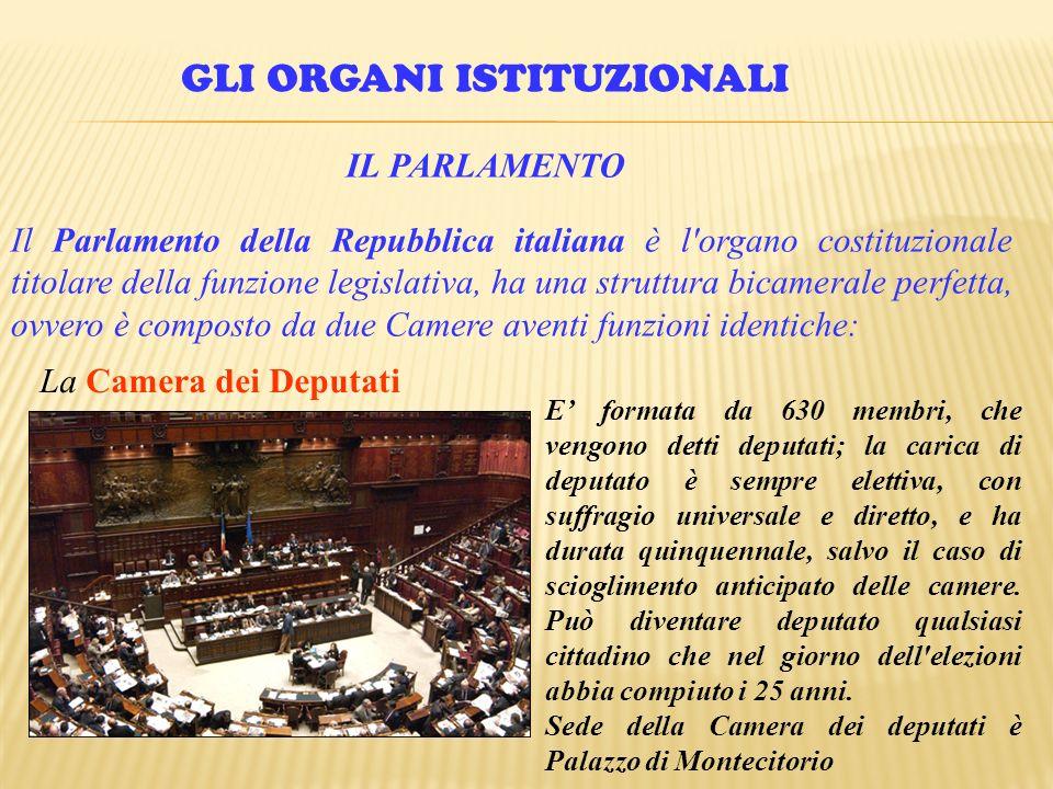 L ordinamento costituzionale dello stato ppt video for Numero membri camera dei deputati