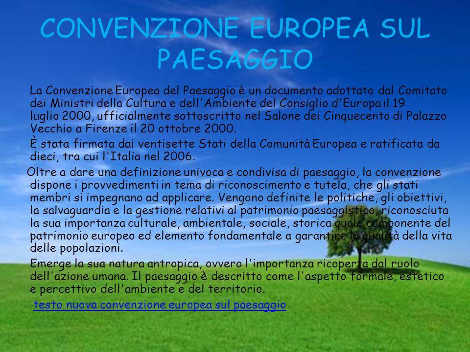 CONVENZIONE EUROPEA SUL PAESAGGIO