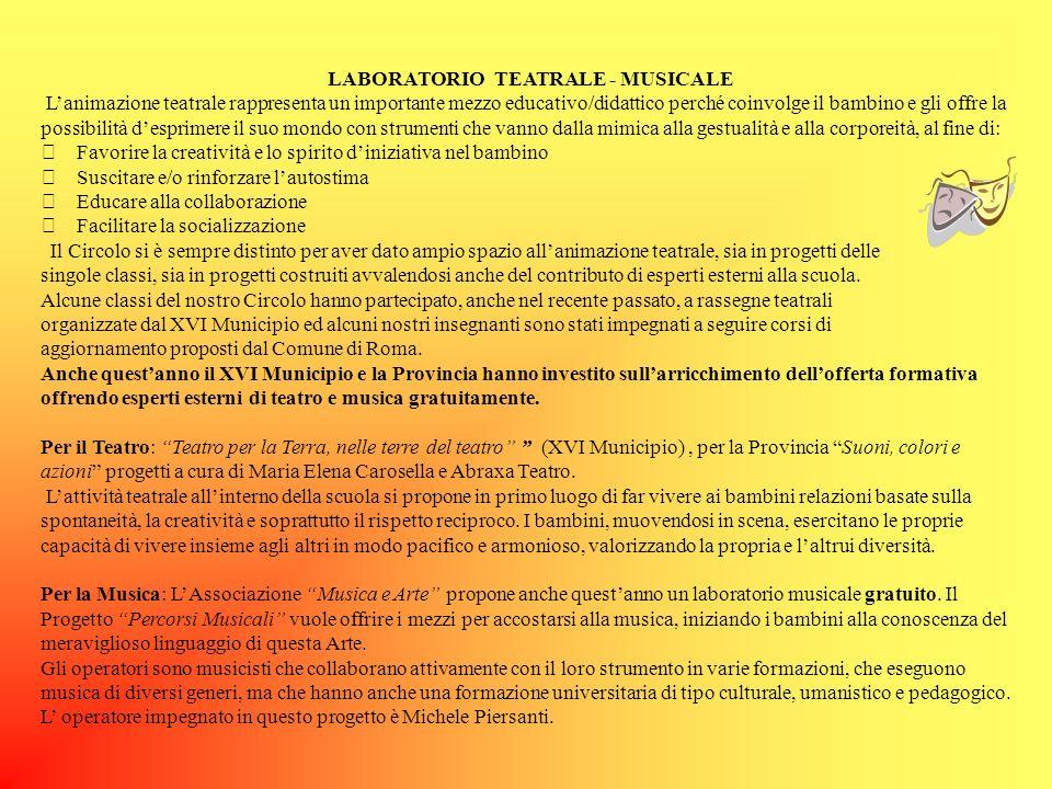 LABORATORIO TEATRALE - MUSICALE