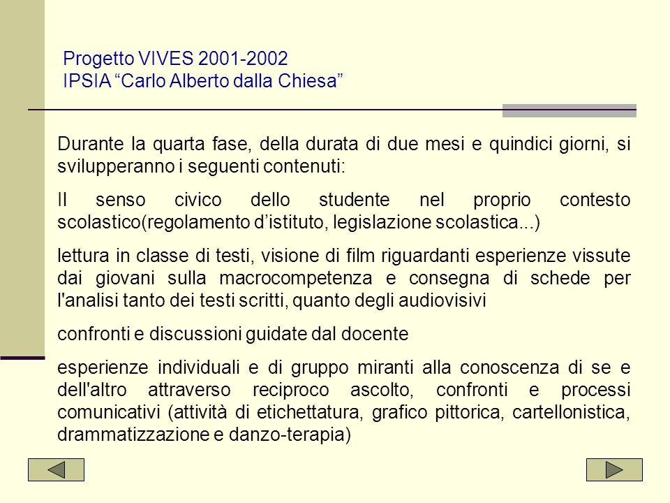 Progetto VIVES 2001-2002 IPSIA Carlo Alberto dalla Chiesa