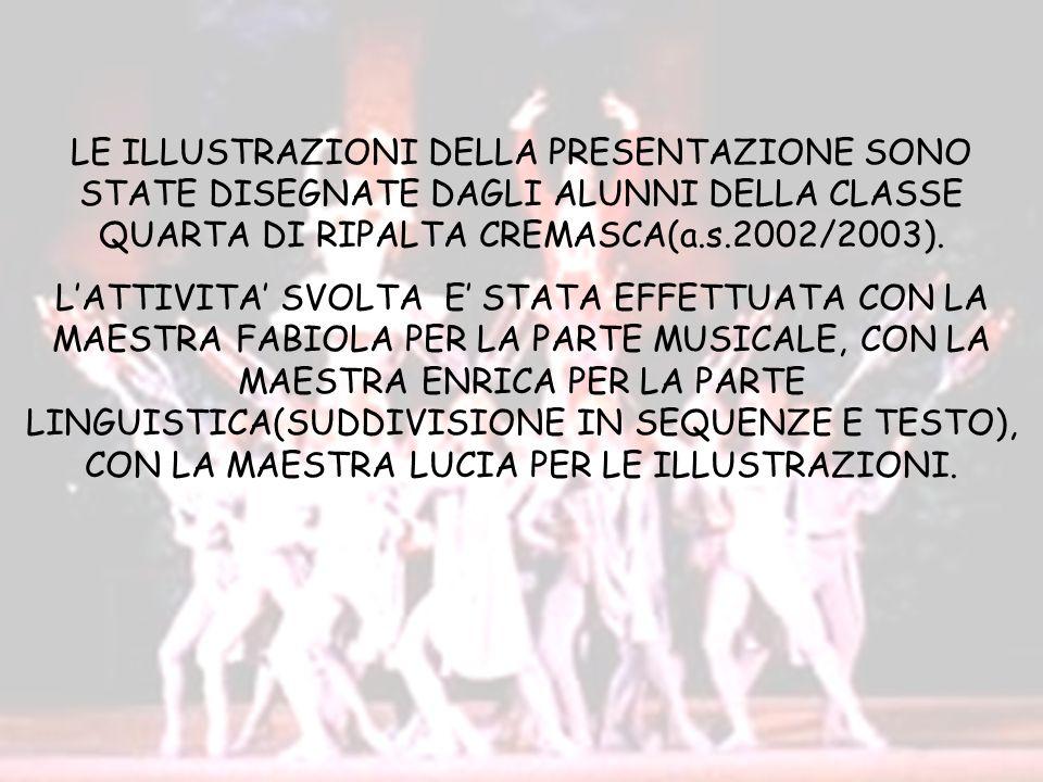 LE ILLUSTRAZIONI DELLA PRESENTAZIONE SONO STATE DISEGNATE DAGLI ALUNNI DELLA CLASSE QUARTA DI RIPALTA CREMASCA(a.s.2002/2003).