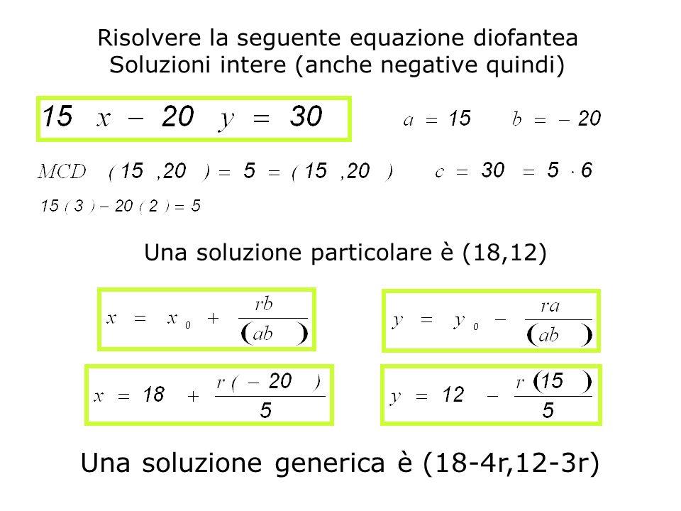 Una soluzione generica è (18-4r,12-3r)