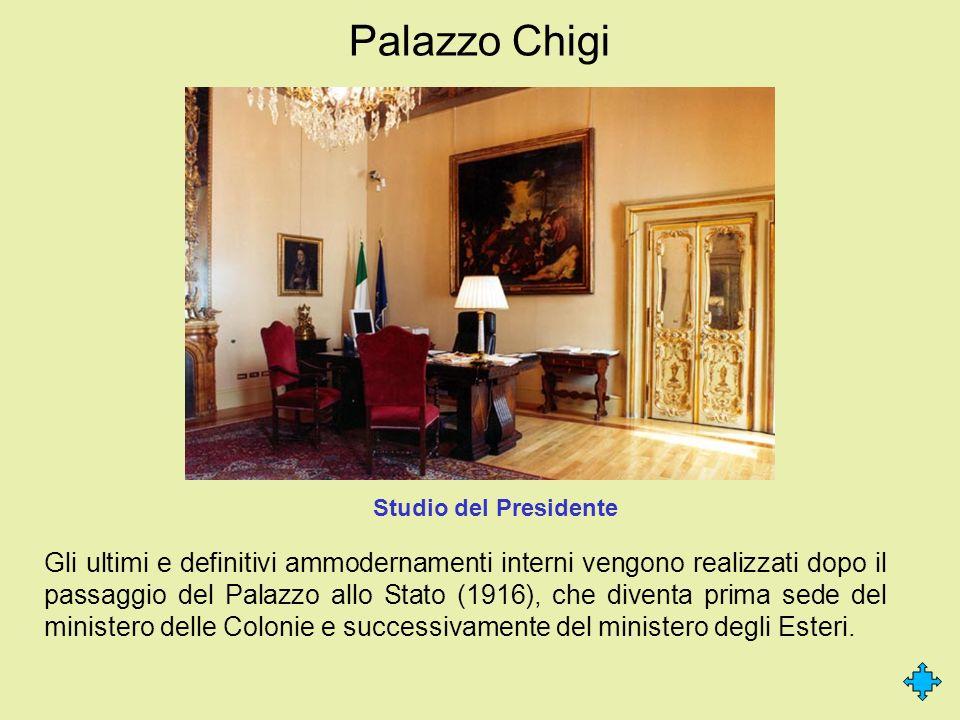 Palazzo Chigi Studio del Presidente.