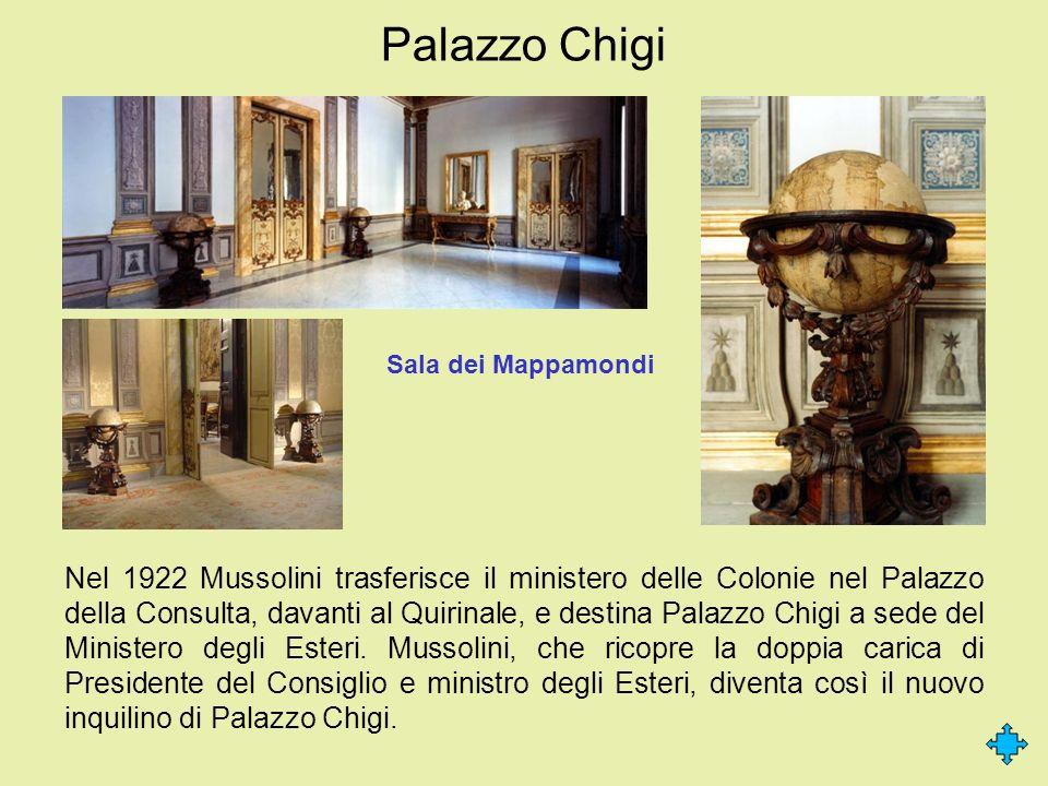 Palazzo Chigi Sala dei Mappamondi.