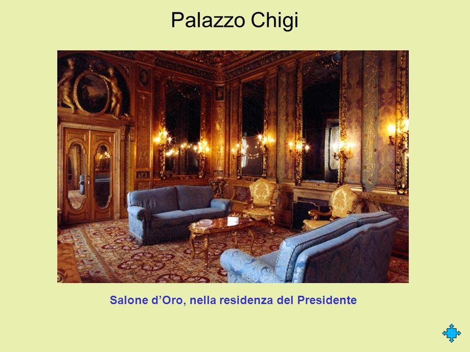 Salone d'Oro, nella residenza del Presidente