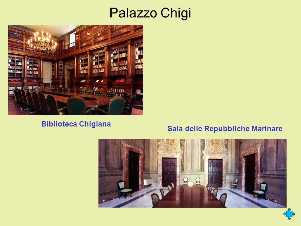 Palazzo Chigi Biblioteca Chigiana Sala delle Repubbliche Marinare