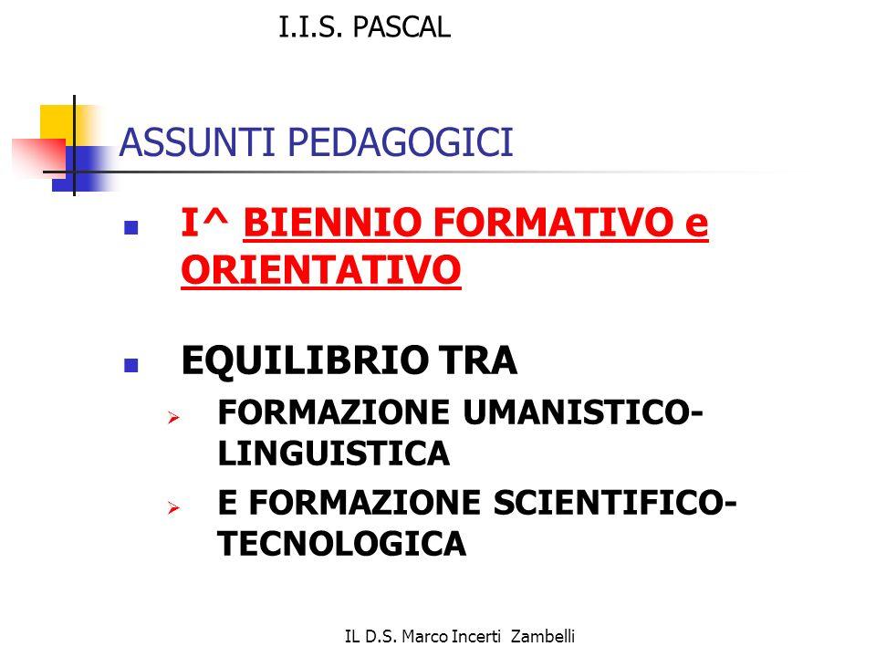 IL D.S. Marco Incerti Zambelli