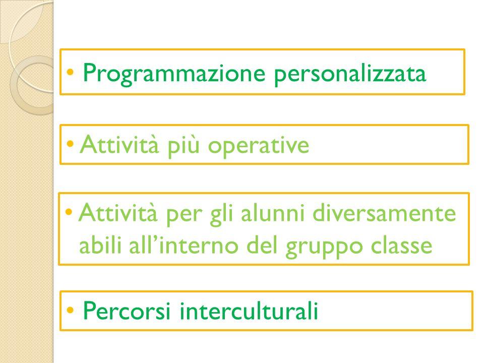 Programmazione personalizzata