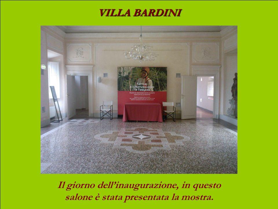 VILLA BARDINI Il giorno dell'inaugurazione, in questo salone è stata presentata la mostra.