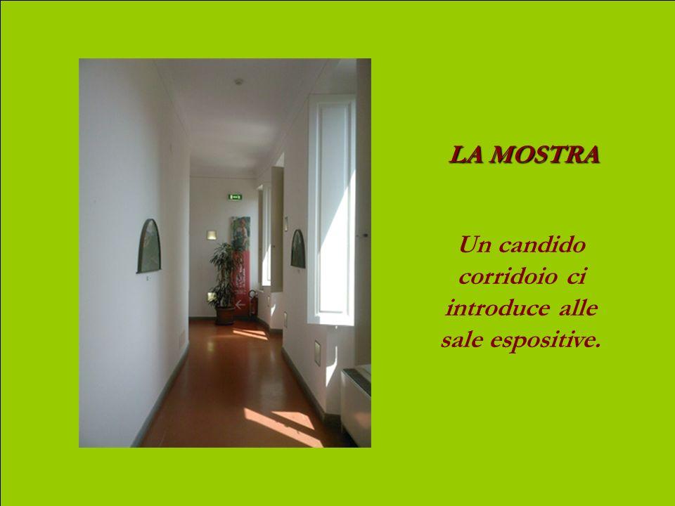 Un candido corridoio ci introduce alle sale espositive.