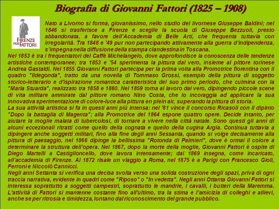 Biografia di Giovanni Fattori (1825 – 1908)
