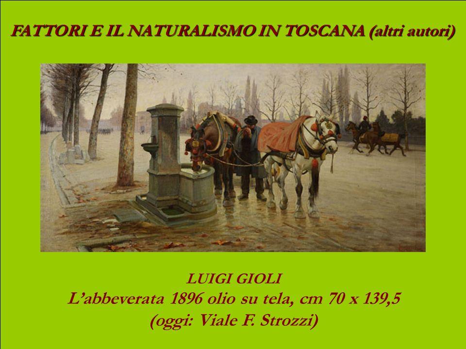 L'abbeverata 1896 olio su tela, cm 70 x 139,5 (oggi: Viale F. Strozzi)