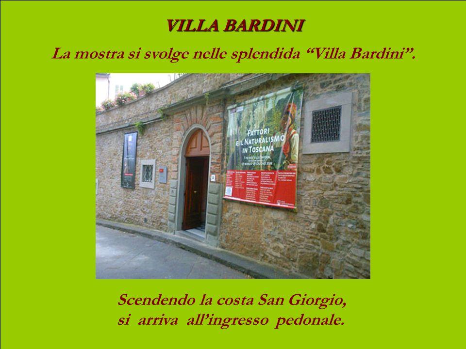 La mostra si svolge nelle splendida Villa Bardini .