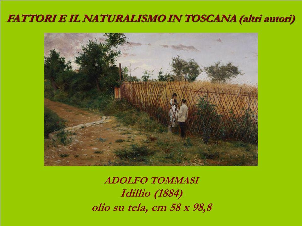 Idillio (1884) olio su tela, cm 58 x 98,8