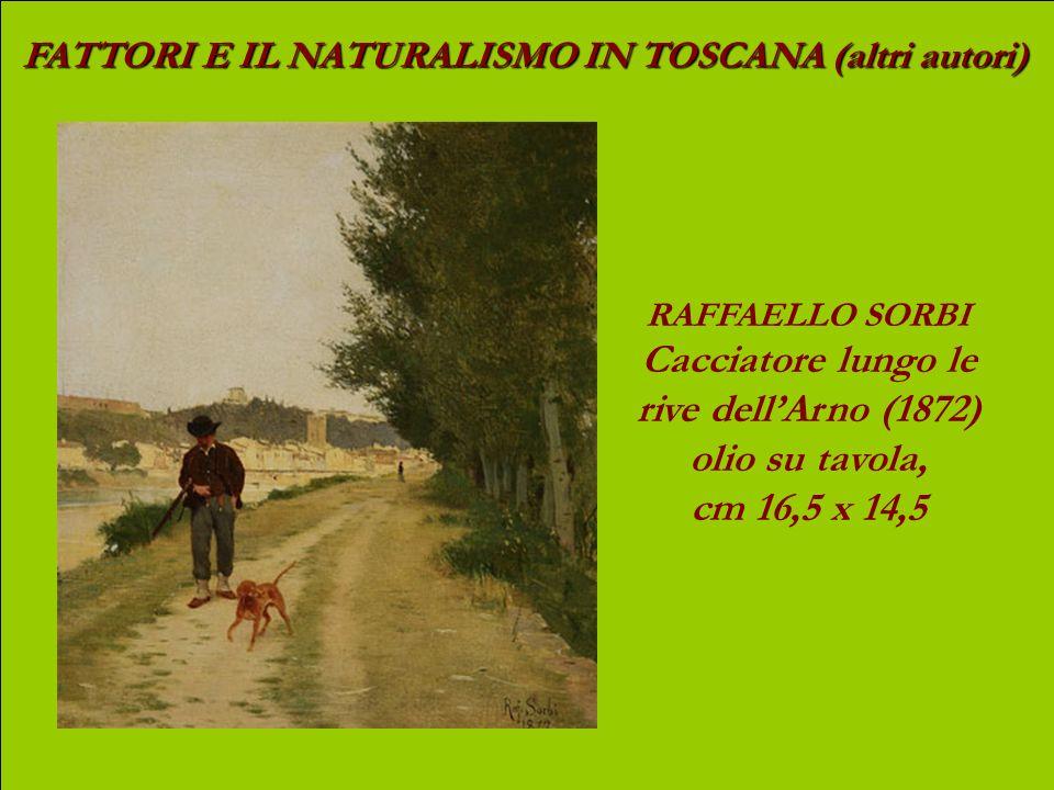 Cacciatore lungo le rive dell'Arno (1872) olio su tavola,