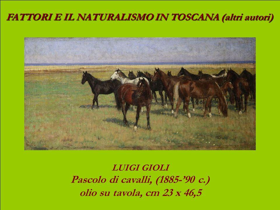 Pascolo di cavalli, (1885-'90 c.)