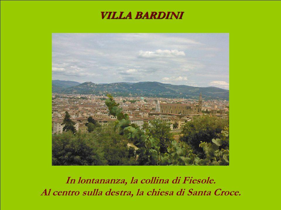 VILLA BARDINI In lontananza, la collina di Fiesole.