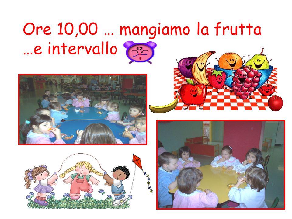 Ore 10,00 … mangiamo la frutta …e intervallo