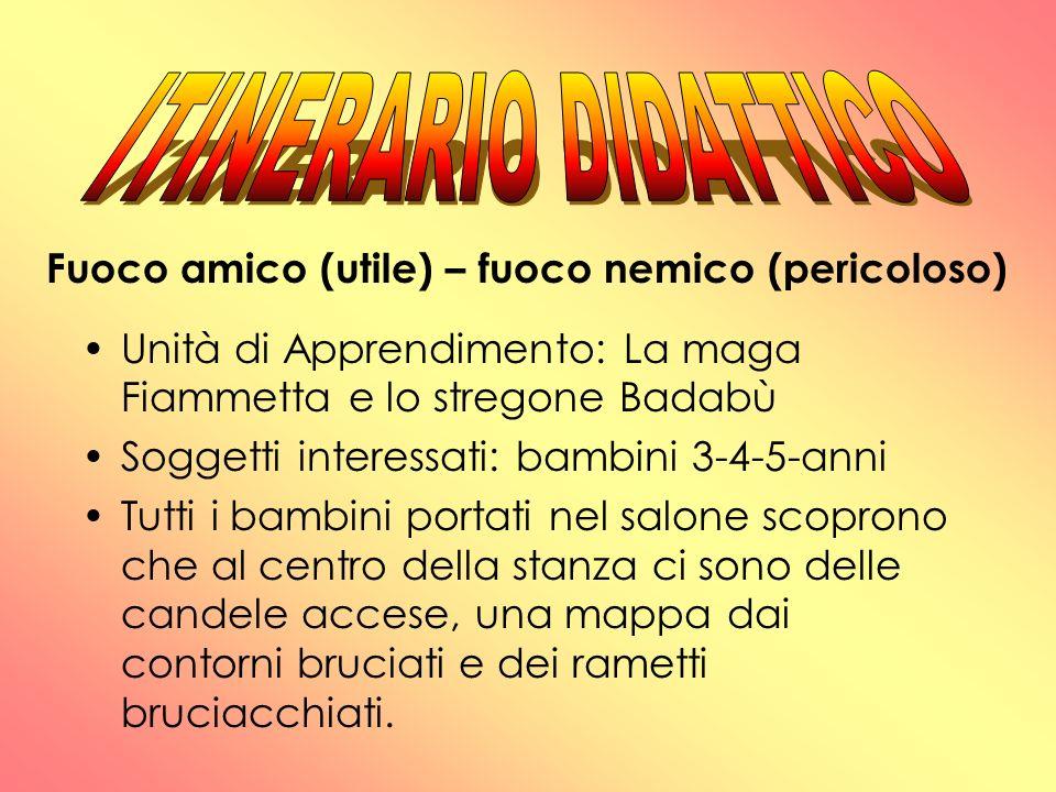 ITINERARIO DIDATTICO Fuoco amico (utile) – fuoco nemico (pericoloso)