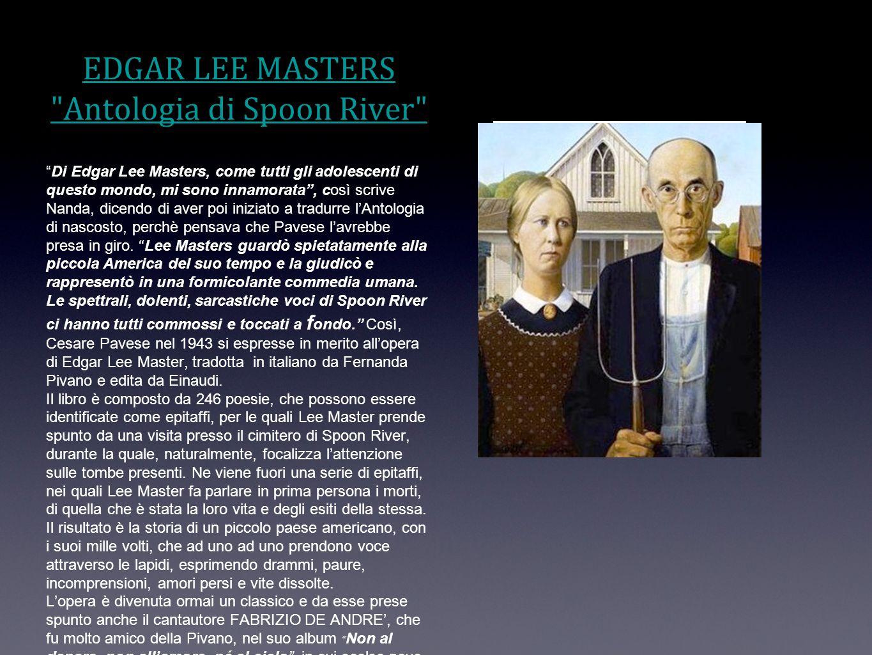 EDGAR LEE MASTERS Antologia di Spoon River
