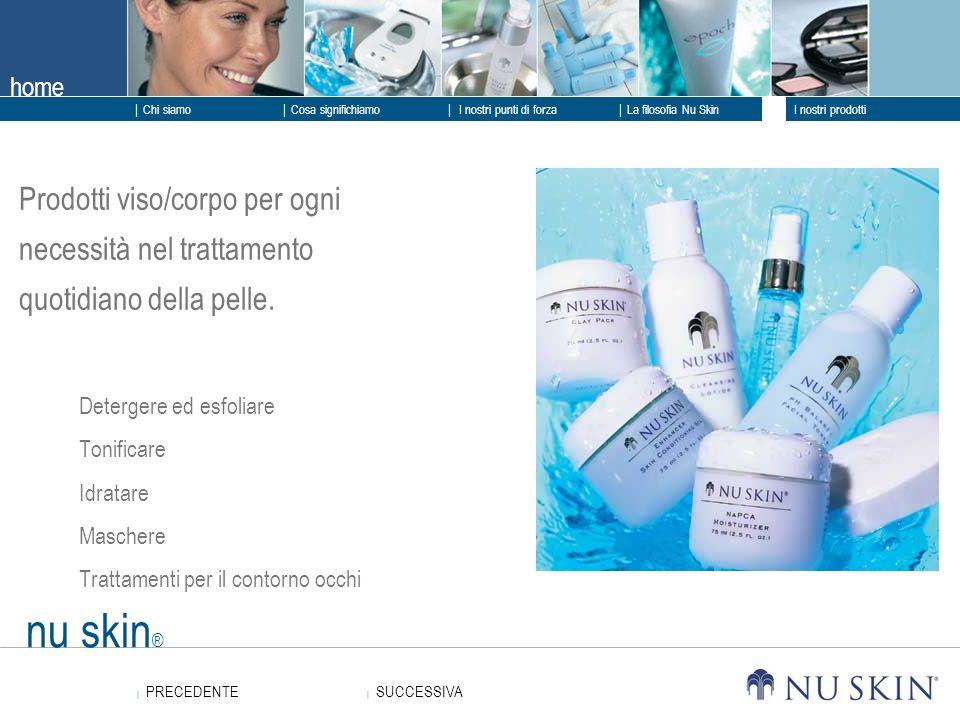 Prodotti viso/corpo per ogni necessità nel trattamento quotidiano della pelle.