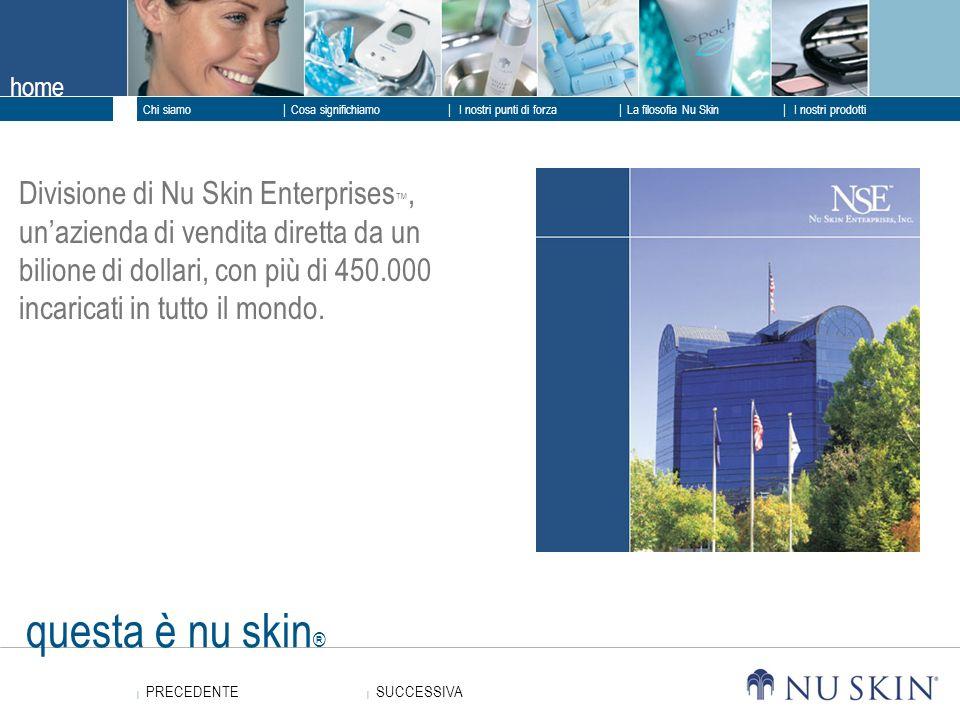 Divisione di Nu Skin Enterprises™, un'azienda di vendita diretta da un bilione di dollari, con più di 450.000 incaricati in tutto il mondo.