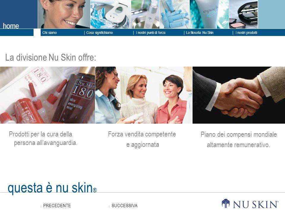 questa è nu skin® La divisione Nu Skin offre: