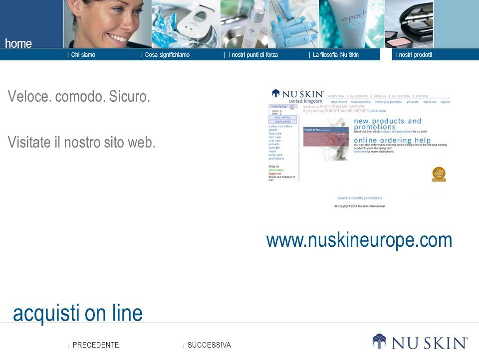 acquisti on line www.nuskineurope.com Veloce. comodo. Sicuro.