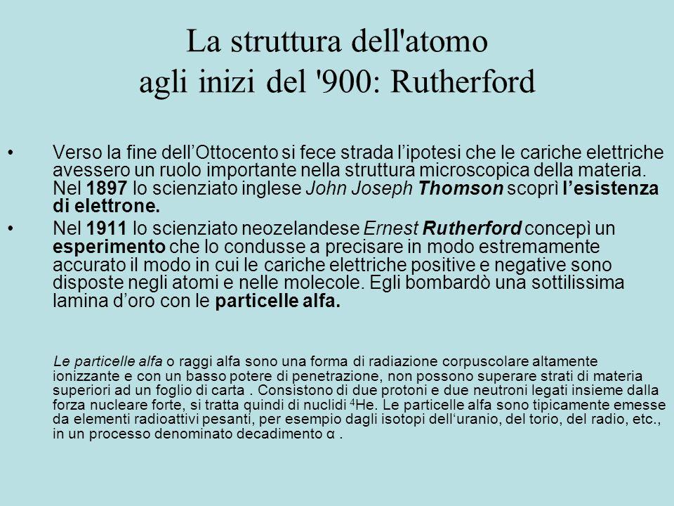 La struttura dell atomo agli inizi del 900: Rutherford