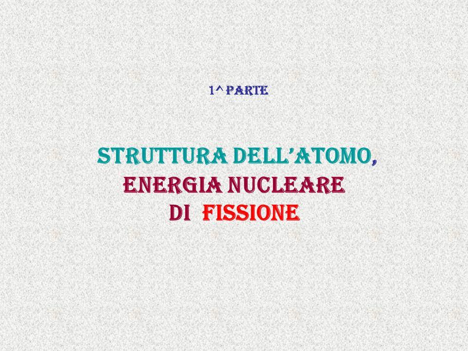 1^ parte struttura dell'atomo, Energia nucleare di fissione